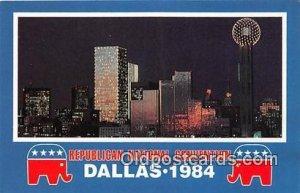 Republican National Convention Dallas, Texas 1984 Patriotic Unused