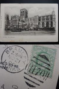 YORK The Minster c1906 Postmark BRAMLEY DUPLEX (H70) by The Wrench Series