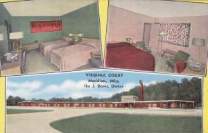 MERIDIAN , Mississippi , 30-40s; 3-Views, Virginia Court
