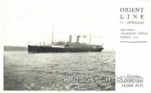 S.S. Osterley Orient Line to Australia Ship Postcard Post Cards  S.S. Osterley