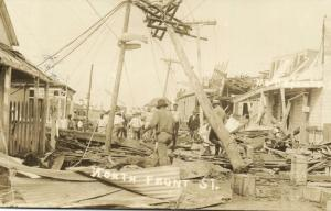 british honduras, BELIZE, North Front Street after Hurricane 1931 Lizarraga RPPC