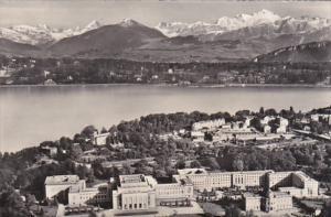Switzerland Geneve Le Palais des Nations Unis et le Mont-Blanc 1963 Photo
