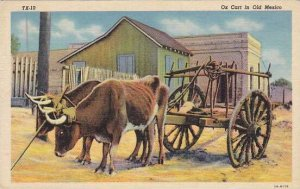 Mexico Ox Cart In Old Mexico