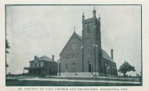 DESERONTO, Ontario , 1900-10s ; St Vincent de Paul Church & Presbytery