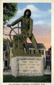 Fishermen's Memorial Gloucester MA 1938