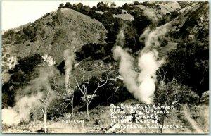 1947 California RPPC Postcard THE GEYSERS Calistoga Sonoma County LAWS Photo