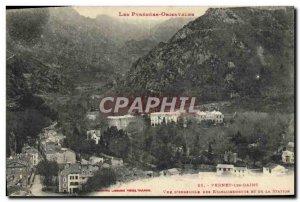 Old Postcard Vernet les Bains View d & # 39ensemble of establishments and sta...