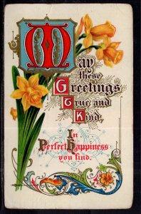 Greetings True and Kind Flowers BIN