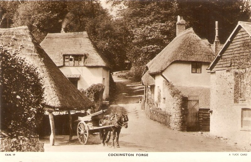 Cockington Forge. Horse chart A Tuck Postcard Serie  CKN 19