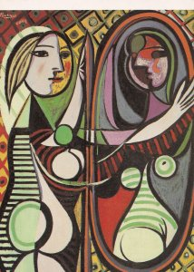 Pablo Picasso Girl Before A Mirror Rare Painting Postcard