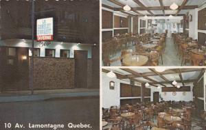 Night view & Interior views of Le Gobelet D'Argent Enr. Taverne, Lamontagne...