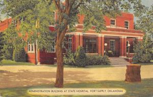 Fort Supply OK Administration Building of State Hospital Insane Asylum 1940s