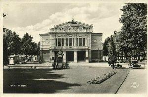 sweden, GÄVLE GAVLE, Teatern Theatre (1950s) RPPC Postcard