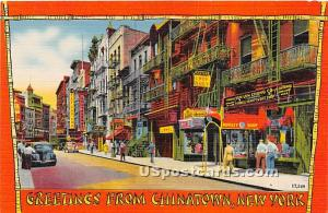 Greetings From Chinatown NY Unused