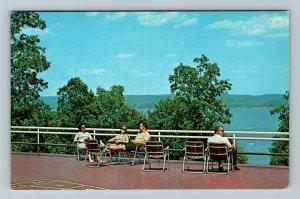 Kentucky Lake KY-Kentucky, Kenlake Hotel Terrace, Chrome Postcard