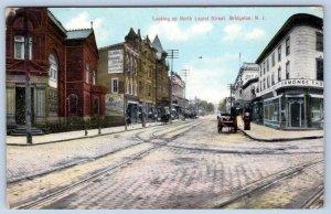 1911 BRIDGETON NJ*LAUREL ST*CLARK'S BUSINESS COLLEGE OF SHORTHAND*TROLLEY TRACKS