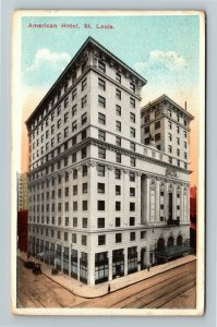St Louis MO-Missouri, American Hotel, Vintage c1916 Postcard