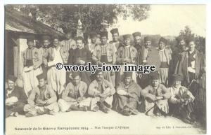 su2866 - African Troupes Pose for Photo, in 1914 - postcard