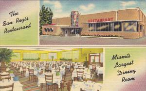 Florida Miami Interior San Regis Restaurant Miami's Largest Dining Room