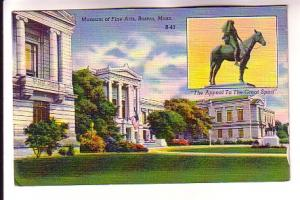 Inset of Statute, Museum Fine Arts, Boston, Massachusetts, Canada Postage Due...
