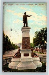 Salt Lake City UT-Utah, Brigham Young Pioneer Monument, Vintage c1911 Postcard
