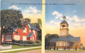 St Barthelomew's Church Old Forge, New York Postcard