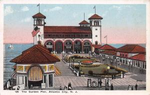 The Garden Pier, Atlantic City, New Jersey, Early Postcard, Unused