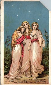 CLEVELAND , OHIO - Antique 1800's LINDEN Cure Bottle Trade Card - CHRISTIAN