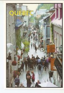 Postal 042460 : Quebec QC. Petit-Champlain Street. Oldest street in nort America