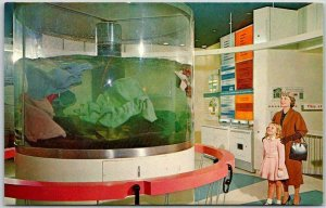 1950s Chicago Museum Science & Industry Postcard Maytag Washing Machine Display