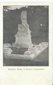 Norfolk Postcard - Memorial Stone To Caister Lifeboatmen - Ref 19831A