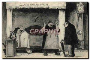 Old Postcard Folklore Laughter Morvan