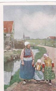 Mother Walking With Her Children, Naar Huis, Marken (North Holland), Netherla...