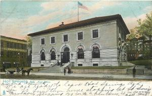 Hot Springs AR Post Office~Northern Hotel~Horse & Wagon~TUCK c1906 UDB