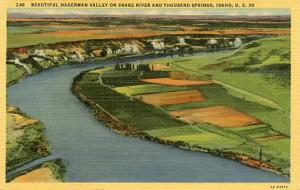 ID - Hagerman Valley, Snake River & Thousand Springs  along Lincoln Highway, ...