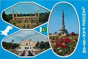 Pakistan Lahore Meenar tomb of Jehangir royal fort postcard