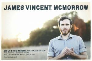 James Vincent McMorrow touring advertising postcard