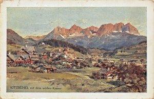 KITZBUHEL AUSTRIA~mit dem WILDEN KAISER~SPECIAL 1912 STAMP POSTCARD