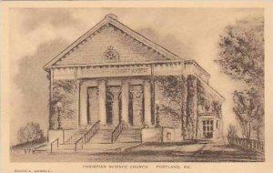 Maine Portland The Christian Science Church Albertype