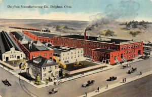 Delphos Ohio~Manufacturing Co~Gas Can Factory Panorama~Artist Conception 1912 PC