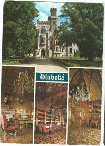 Czech Republic, Hluboka nad Vltavou, used Postcard
