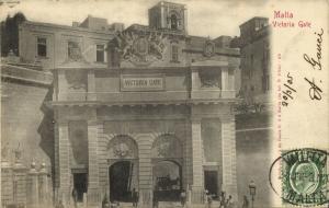 malta, VALLETTA, Victoria Gate (1905) Postcard