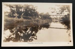 Mint New Caledonia Real Picture Postcard RPPC La foa Footbridge