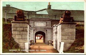 Halifax NS Canada Entrance to Citadel Postcard Used (33390)