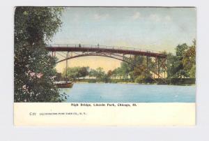 ANTIQUE POSTCARD ILLINOIS CHICAGO HIGH BRIDGE LINCOLN PARK