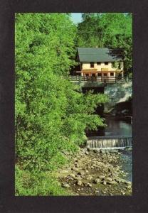 ME Blue Hill Village Pond Restaurant MAINE Postcard --
