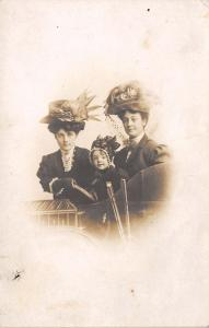 3 Generations? Auto Hat~Too Young To Wear A Merry Widows Hat~Studio Auto RPPC