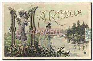 Postcard Old Marcelle Surname