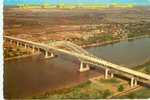 Postcard Pennsylvania Delaware River Bridge Turnpike NJ  Free Shipping # 2656A