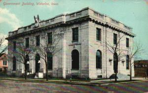 Waterloo, Iowa, IA, Government Building, 1910 Antique Vintage Postcard g849